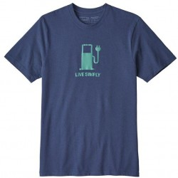 Patagonia - Live Simply Power Repsonsibili-Tee Ms