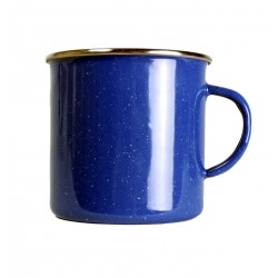 Emaille Tasse 530ml blau