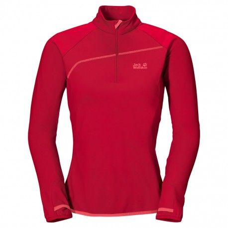 Jack Wolfskin - ACTIVE ZIP SHIRT WOMEN